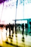 Van de bedrijfs stad mensen abstracte achtergrond Stock Afbeelding