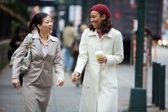 Van de bedrijfs stad Vrouwen Stock Foto's