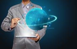 Van de bedrijfs technologie concept, het diagram van de het procesInformatie van het Netwerk Stock Foto's