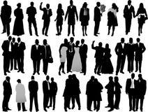 Van de bedrijfs verscheidenheid mensensilhouetten Stock Afbeelding
