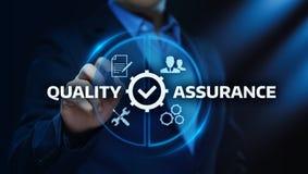 Van de Bedrijfs waarborg Standaardinternet van de kwaliteitsborgingdienst Technologieconcept vector illustratie