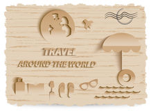 Van de bedrijfs wereldreis Ontwerp Infographic Royalty-vrije Stock Fotografie