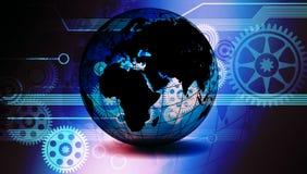 Van de bedrijfs wereldtechnologie Bannerachtergrond De verbonden Bol Google van de Technologiewereld Vector illustratie vector illustratie