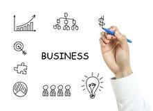 Van de bedrijfs zakenmantekening concept Royalty-vrije Stock Afbeeldingen