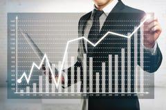 Van de bedrijfs zakenmantekening diagram Stock Fotografie
