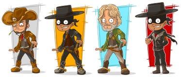 Van de beeldverhaalsheriff en cowboy karakter vectorreeks vector illustratie