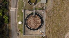 Van de de behandelingskraan van het waterafval het luchtschot stock footage
