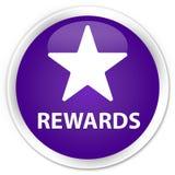 Van de beloningen (sterpictogram) premie de purpere ronde knoop Royalty-vrije Stock Fotografie