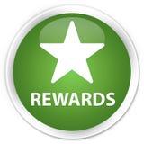 Van de beloningen (sterpictogram) premie de zachte groene ronde knoop Stock Afbeeldingen