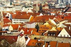 Van de binnenstad in Bratislava Stock Foto's
