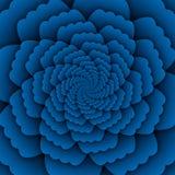 Van de bloemmandala van de illusiekunst abstract het patroon blauw decoratief vierkant als achtergrond vector illustratie