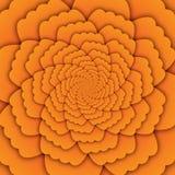 Van de bloemmandala van de illusiekunst abstract het patroon geel decoratief vierkant als achtergrond stock illustratie