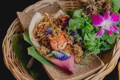 Van de bloesemgarnalen van de Yumbanaan het Thaise Voedsel stock foto's