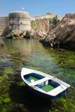 Van de Bokarfort en stad muren dubrovnik Kroatië stock afbeelding