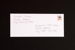 Van de brievenafzender en ontvanger formaat Royalty-vrije Stock Afbeeldingen