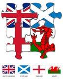 van de Britse figuurzaag 2 landvlag vector illustratie