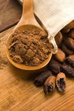 Van de cacao (cacao) de bonen stock foto's