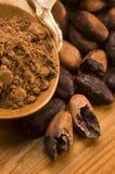 Van de cacao (cacao) de bonen royalty-vrije stock foto