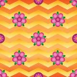 Van de de chevronsymmetrie van de bloemgradiënt het naadloze patroon vector illustratie