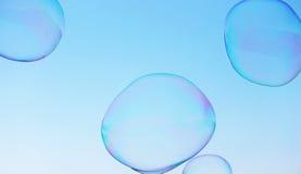 Van de close-upzeepbel modern eenvoudig abstract ontwerp als achtergrond met copyspace Royalty-vrije Stock Fotografie
