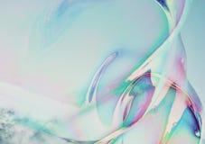 Van de close-upzeepbel modern eenvoudig abstract ontwerp als achtergrond met copyspace Stock Afbeeldingen