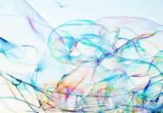 Van de close-upzeepbel modern eenvoudig abstract ontwerp als achtergrond met copyspace Royalty-vrije Stock Foto's