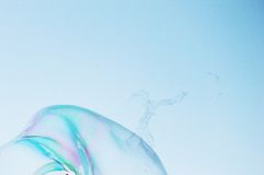 Van de close-upzeepbel modern eenvoudig abstract ontwerp als achtergrond met copyspace Stock Fotografie