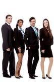 Van de commerciële geïsoleerdl gelukkig teamdiversiteit Stock Foto