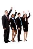 Van de commerciële geïsoleerdl gelukkig teamdiversiteit Royalty-vrije Stock Fotografie