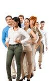 Van de commerciële geïsoleerd gelukkig teamdiversiteit Royalty-vrije Stock Foto
