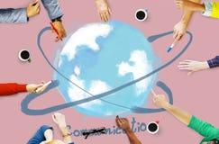 Van de communicatie Concept Voorzien van een netwerk het Online Technologie Royalty-vrije Stock Foto's