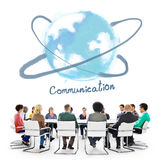 Van de communicatie Concept Voorzien van een netwerk het Online Technologie Stock Foto's