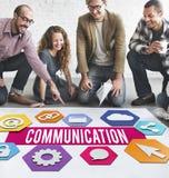 Van de communicatie het Creatieve Grafische Concept Mensenlay-out Royalty-vrije Stock Foto's