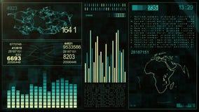 Van de Computergegevens van de technologieinterface het Scherm GUI stock illustratie