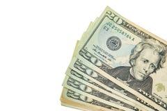 Van de contant geldamerikaanse dollars stapel royalty-vrije stock afbeelding