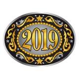 van de de cowboy de westelijke stijl van 2019 gesp van de het jaar ovale riem nieuwe royalty-vrije illustratie
