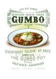 Van de de Cultuurinzameling van New Orleans de Zeevruchten Gumbo royalty-vrije stock fotografie