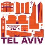 Van de de cultuurreis van Tel Aviv de vectorillustratie vector illustratie
