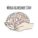 Van de de Daggeneeskunde van Alzheimer van de GEZONDHEIDSZORGwereld de Vectorillustratie royalty-vrije illustratie