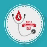 Van de de dagstethoscoop van de wereldhemofilie de medische campagne stock illustratie