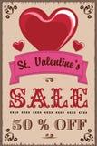 Van de de Dagverkoop van Valentine Uitstekende de strippagina retro westelijk stock afbeeldingen
