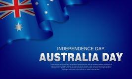van de de Dagviering van illustratie Gelukkige Australië de affiche of de bannerreeks Als achtergrond stock foto