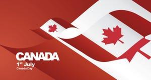 Van de de Dagvlag van Canada de achtergrond van het het lintlandschap vector illustratie