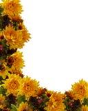 Van de Daling van de herfst BloemenGrens Als achtergrond Royalty-vrije Stock Fotografie