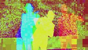 Van de de dansersbeweging van de mensendans de schaduw van de het vermaakchoreografie stock videobeelden