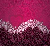 Van de de achtergrond daguitnodiging van de modieuze rode uitstekende valentijnskaart ontwerp Stock Fotografie
