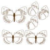 Van de de achtergrond tegelstof van de vlinderdekking het patroon van het het Abstracte behang illustratieontwerp Stock Foto