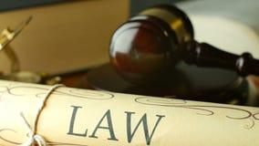 Van de de advocatenwet van de advocaatprocureur van de de regelings voor het gerecht magistraat de rechtershamer stock footage