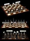 Van de de allegorieoppositie van het schaak de burgers en de overheid Stock Foto's