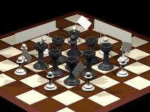 Van de de allegorieoppositie van het schaak de burgers en de overheid Stock Afbeelding